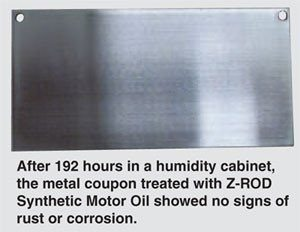 Amsoil Z-Rod Humidity Cabinet Rust Protection Test