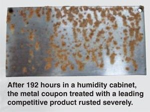 Amsoil's Leading Competitor Humidity Cabinet Rust Test