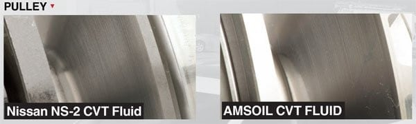 Pulley Comparison Nissan NS-2 VS Amsoil CVT Transmission Fluid